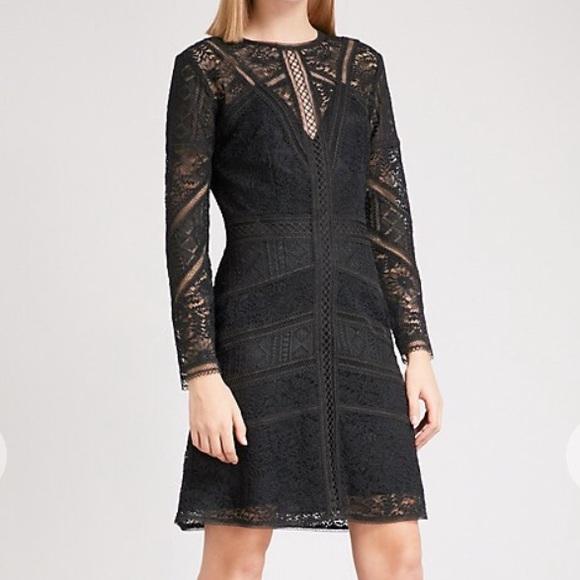 0604be0c5f0 The Kooples Dresses | Black Lace Long Sleeve Dress | Poshmark